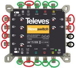 Instalacja Sat + DVB-T (Sat90 + QUAD Inverto Red + Multiswitch 5x5x6)