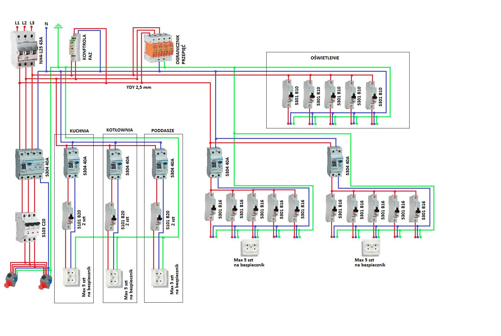Domowe Instalacje Elektryczne Schematy