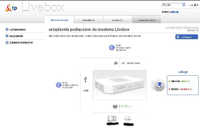 Brak opcji TV przez ADSL w livebox