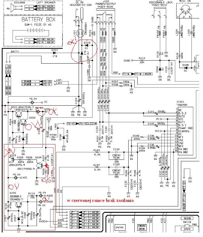 Casio CTK-601 nie w��cza si�, po z�ym podpi�ciu zasilania