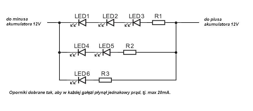 Obliczanie pradu dla diod
