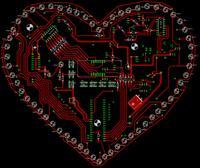 Walentynkowy zegar - zdjęcie, opis