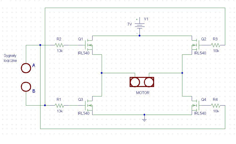 Sterowanie silnikami prądu stałego za pomocą Atmega32a-pu