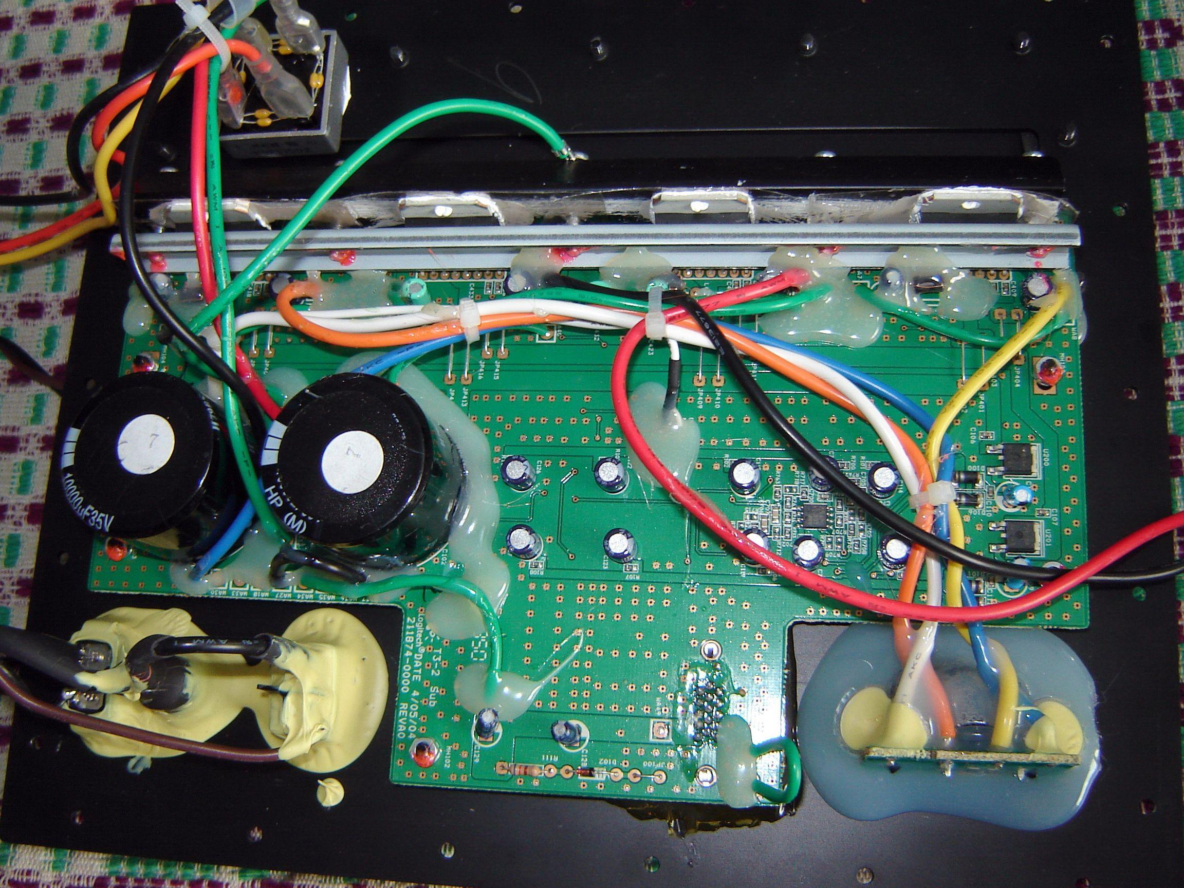 Logitech Z-2300 szumi głośnik basowy - zdjęcia. - elektroda.pl