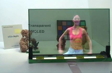 Samsung pokazał przeźroczysty wyświetlacz AMOLED 19 cali