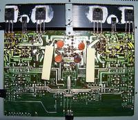 PROTON AM-452 Wzmacniacz - spalony kondensator