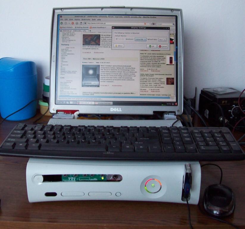 Xbox 360 + Matryca LVDS