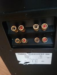 Podłączenie - Subwoofer Tonsil 200 + Technics SA-AX6
