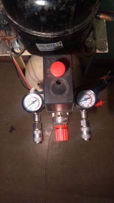 Kompresor lodówkowiec- konstrukcja własna.