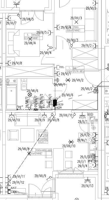 Teletechniczna skrzynka mieszkaniowa - dodatkowe gniazda