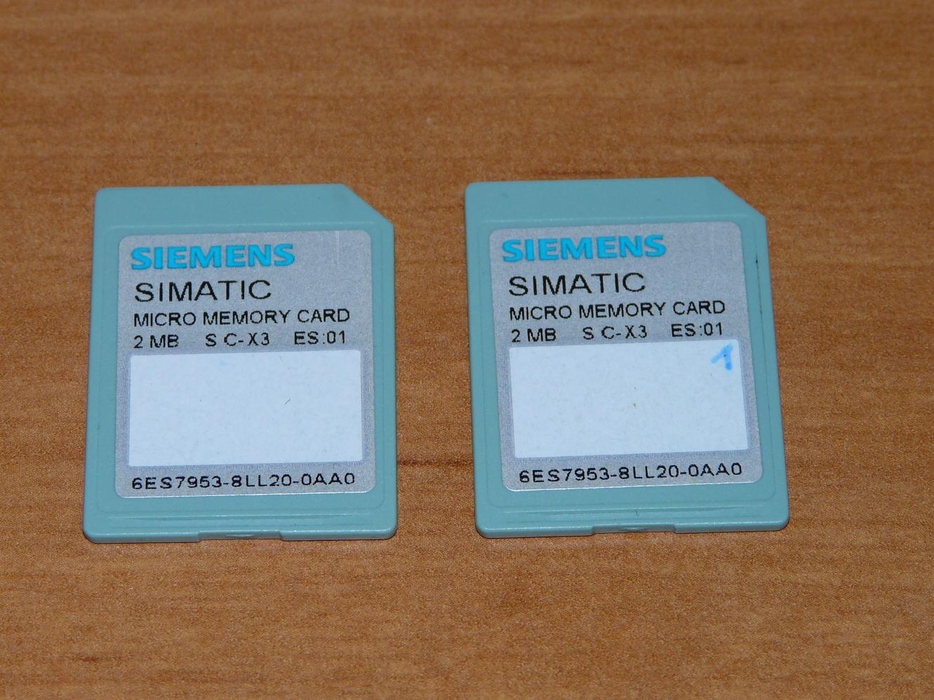 [Sprzedam] 2 karty MMC Siemens Simatic o pojemno�ci 2MB