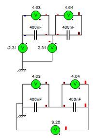 Szeregowe łączenie kondensatorów