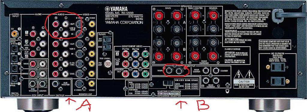 yamaha rx-v630rds + drugi wzmacniacz - pytanie