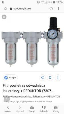 Filtr i odwadniacz pneumatyki