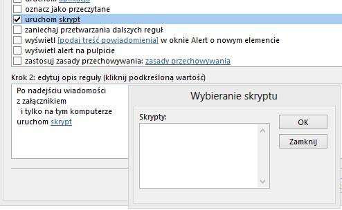 MS Outlook 2013 - skrypt po odebraniu wiadomo�ci