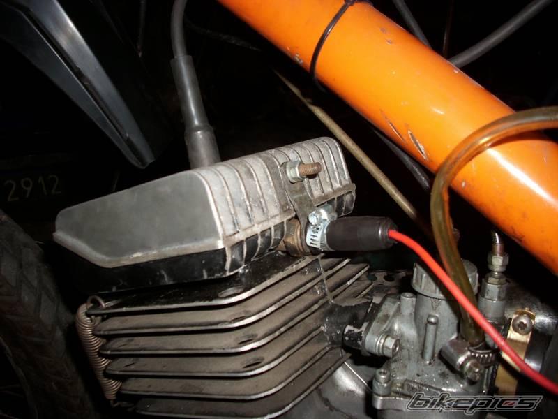 Wska�nik temperatury silnika 2T na podzespo�ach Poloneza/125p