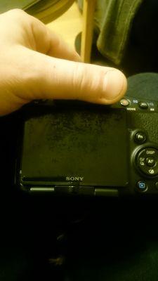Sony SLT A65V - ekran nie gaśnie
