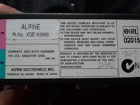 Zmieniarka Alpine spalony element