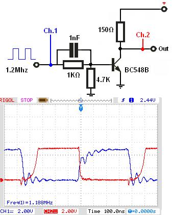 Tranzystor RF Ic=300mA, zbyt wolny czas reakcji tranzystora ton i toff