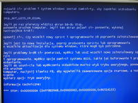Częste blue screeny i wysokie zużycie procesora