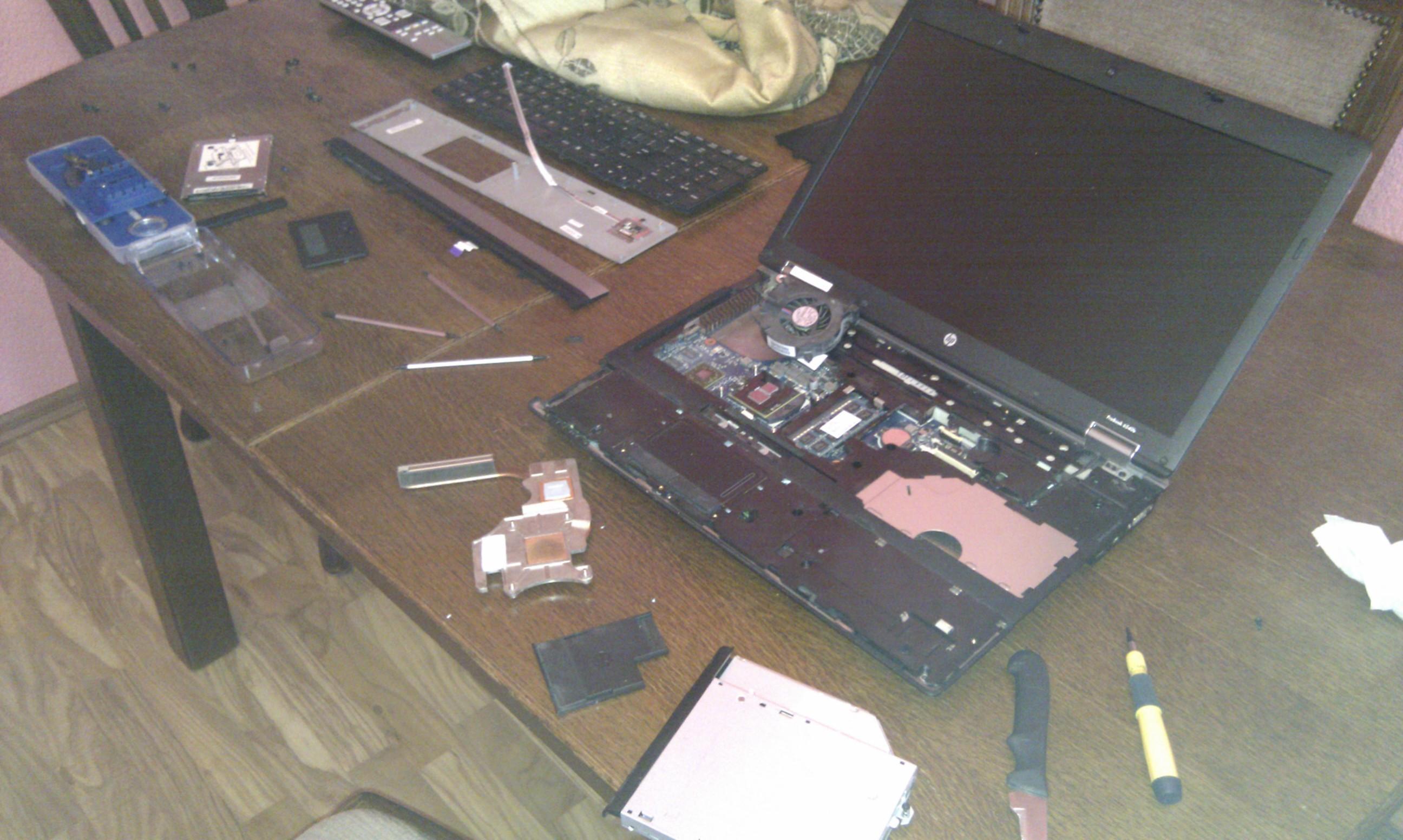 Przegrzewanie si� karty graficznej w HP ProBook 6540b - bardzo du�o r�nych pr�b