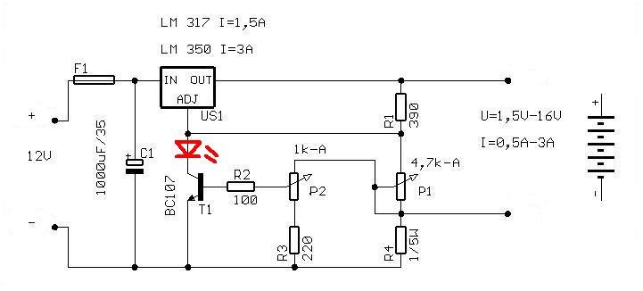 �adowarka akumulatora �elowego 6V 4.5Ah