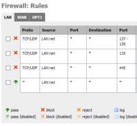UPC - blokowanie port�w - zablokowanie port�w 135, 137-139 na domowym routerze
