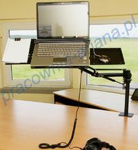 Wysięgnik do laptopa - ergonomiczna praca bez garbienia