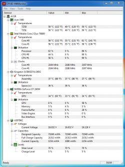 Acer Aspire 8735G - resetuje się - temperatury ok (chyba?)