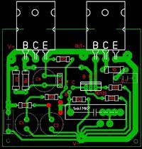 Wzmacniacz audio na tranzystorach BC547B, BC337, KD502 i KD502