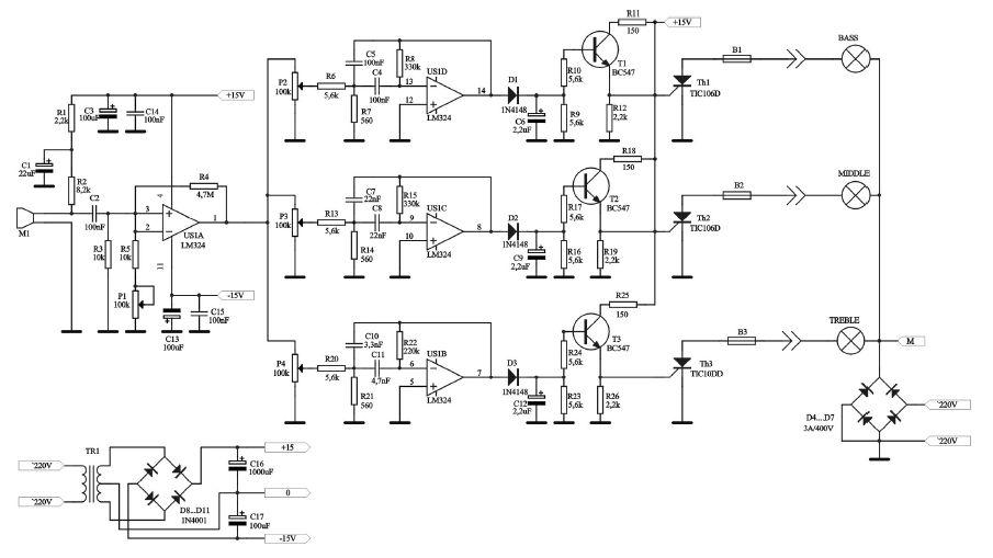 LM324 Modyfikacja schematu filtra