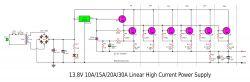 Transformatorowy Zasilacz 13.8v 30A