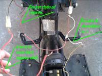 Przewody do gaszenia i odpalania stacyjki Aprilia SR50