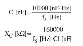 Filtr aktywny pasmowy - teoria, wzory pytanie.