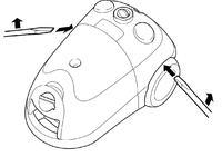 Odkurzacz Philips HR 8564/B - demontaż obudowy