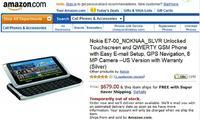 Nokia E7 do zam�wienia na Amazon