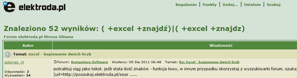 Excel - kopiowanie dw�ch liczb