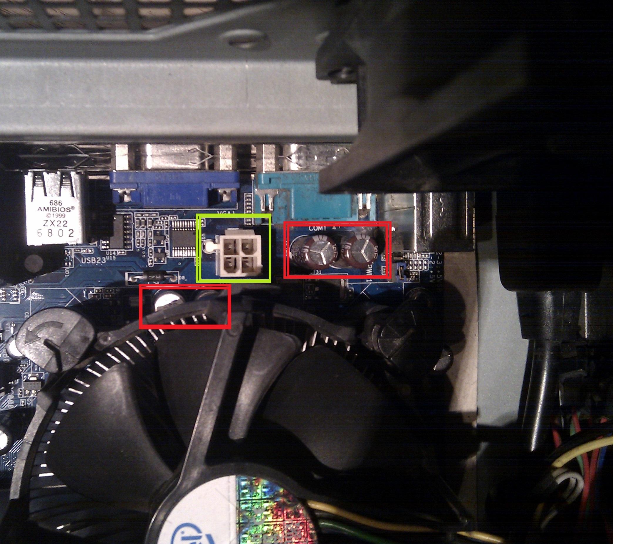Asrock G31M-S R2.0 - P�yta g��wna nie w��cza si� po pod�aczeniu gniazda 12V ATX
