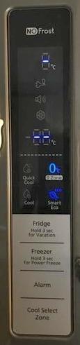 Lodówka Samsung RL58GQIH - Wyświetlacz nie pokazuje temperatur