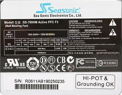 Seasonic model: SS-700HM M12- potężne zwarcie