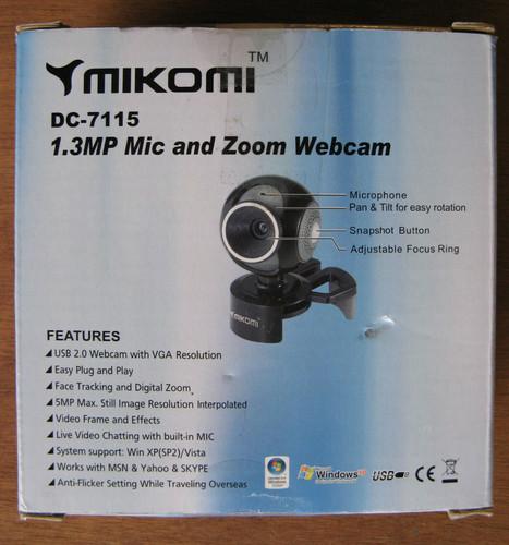 Sterowniki do kamery internetowej Mikomi DC - 7115