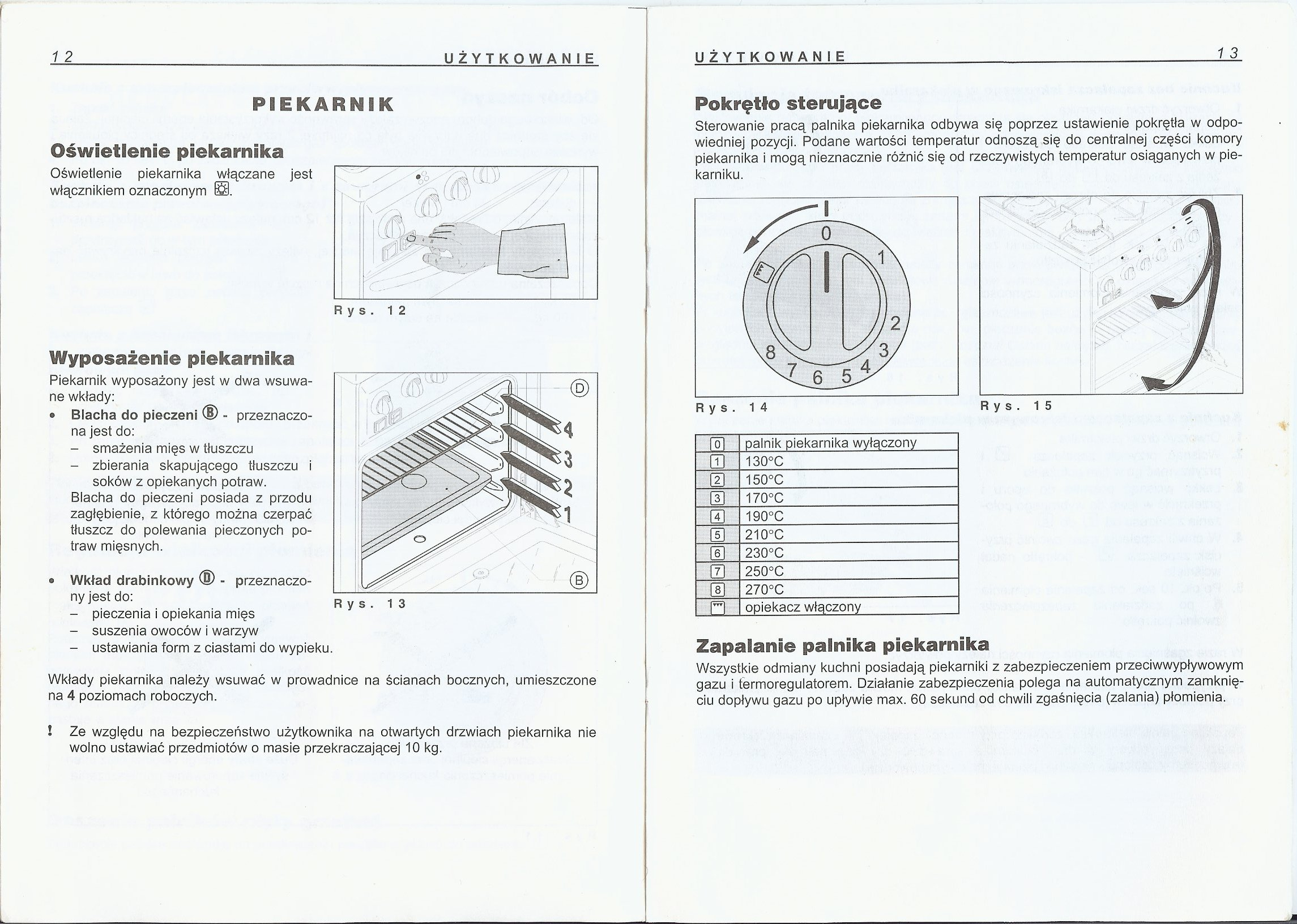 Kuchnia Gazowa ACANTA  elektroda pl
