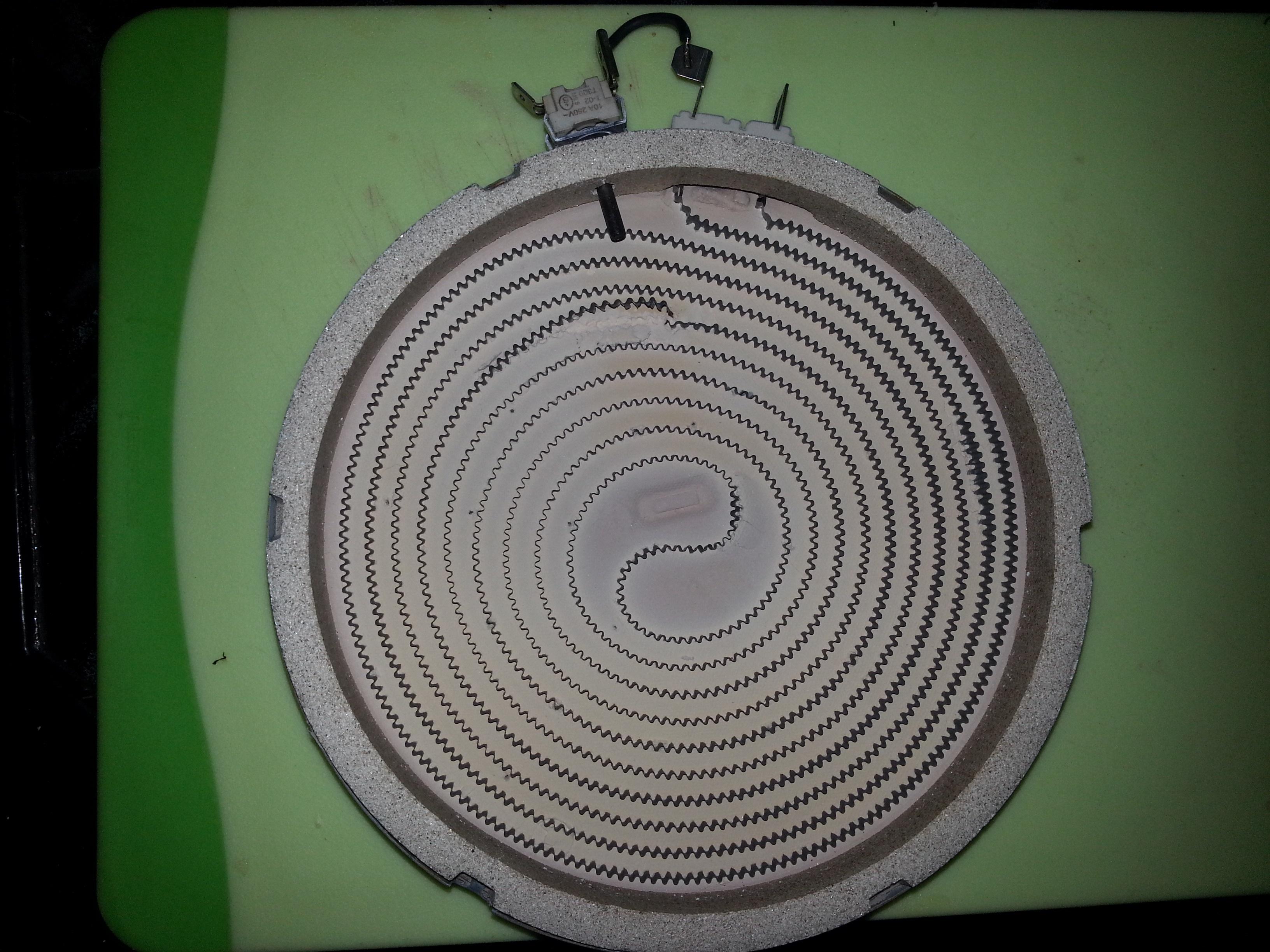 kuchenka elektryczna - podlaczenie palnika