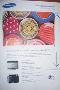 Samsung CLP-320 Kolorowe pasy na wydruku
