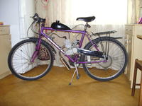 Chiński silnik rowerowy - nie działa przycisk stop, regulacja gaźnika