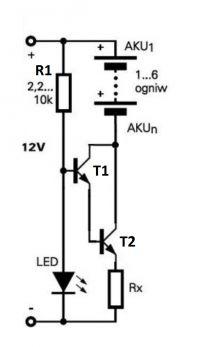 Układ źródła prądowego do ładowania akumulatorków NiMH
