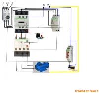 Szafka sterownicza kompresora/ schemat