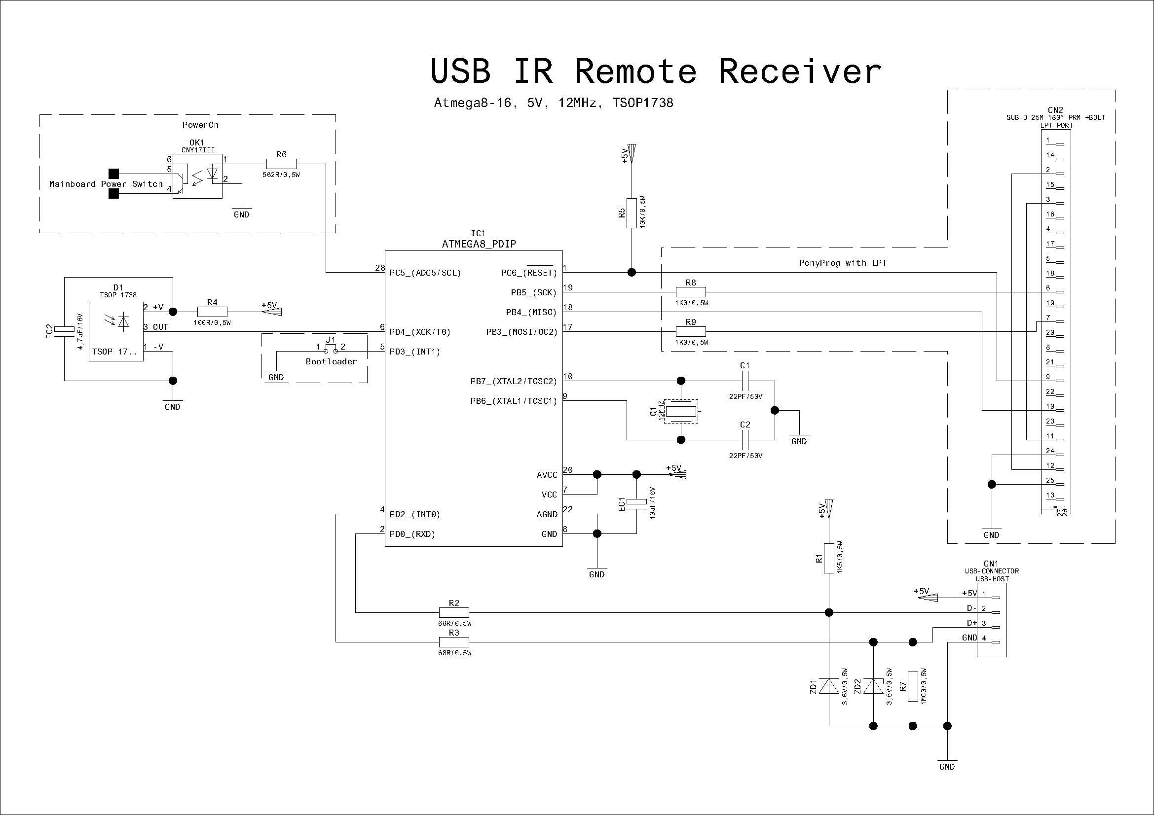 [Zlec�] Odbiornik IR na USB wed�ug za��czonego schematu