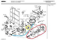 Bosch SGV5603/19 - Zmywarka Bosch, mały poziom wody, brudne naczynia.