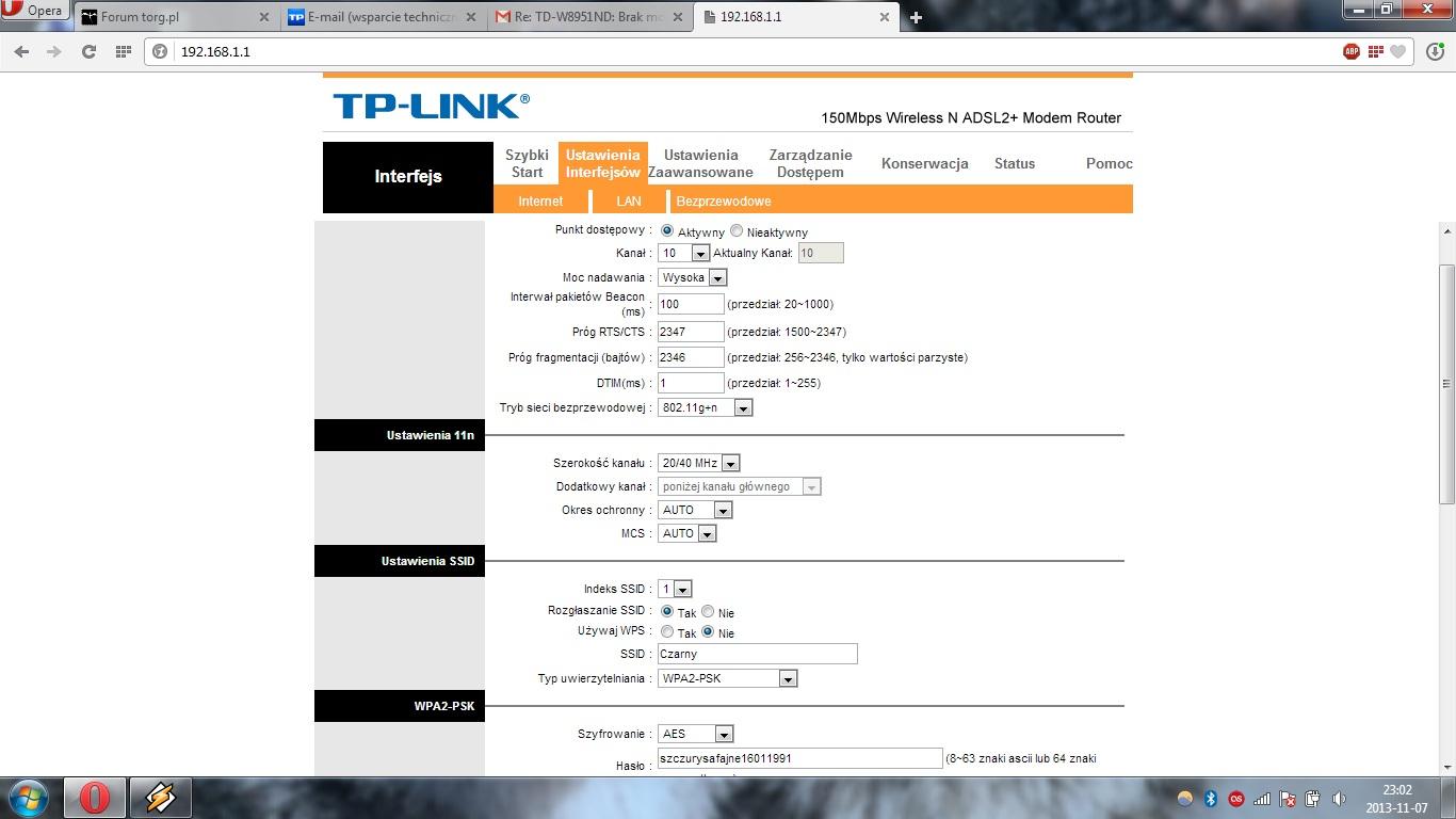 Tp-link TD-W8951ND v5 - Roz��czanie Wi-Fi.